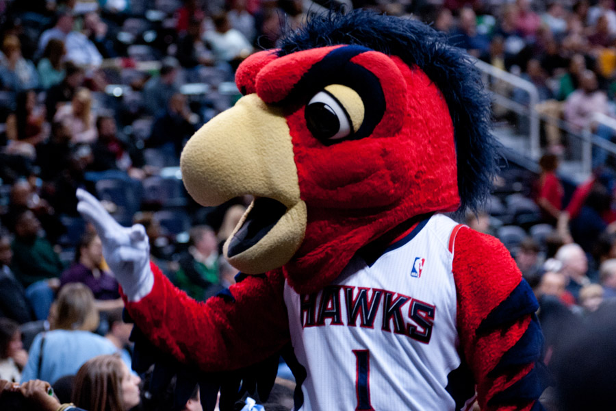 Atlanta Hawks Mascot Harry