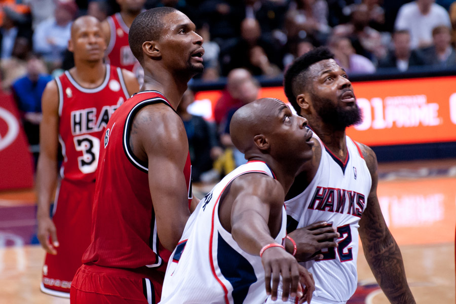 Chris Bosh, Anthony Tolliver & DeShawn Stevenson